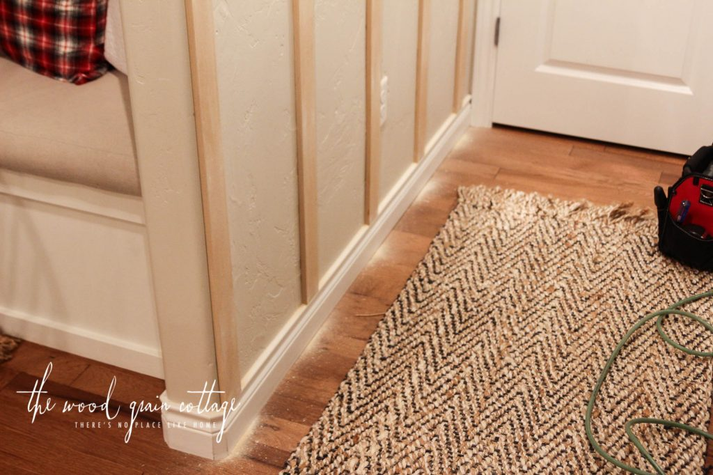 DIY Board & Batten In The Hallway by The Wood Grain Cottage